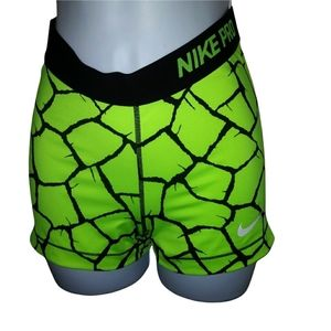 Nike green and black athletic shorts